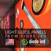DIODE LED LIGHT GUIDE PANELS